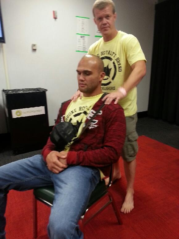 Dr. Hogenson working on Ruthless Robbie Lawler